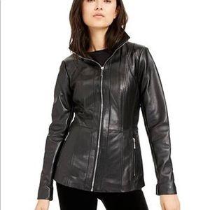 Jacket Michael Kors leather M soft MK zip up